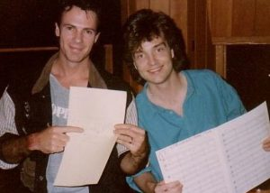 Hanging out in the studio with Rick Springfield-1989