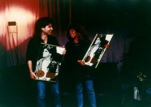 On tour with the legendary Tina Turner the night we were both presented with gold records in Germany.